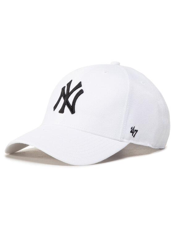 47 Brand Kepurė su snapeliu Mlb New York Yankees B-MVPSP17WBP-WH Balta