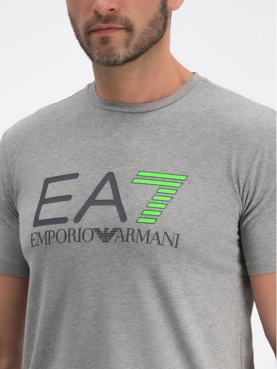 EA7 Emporio Armani EA7 Emporio Armani Тишърт 3GPT01 PJ03Z 3905 Сив Regular Fit