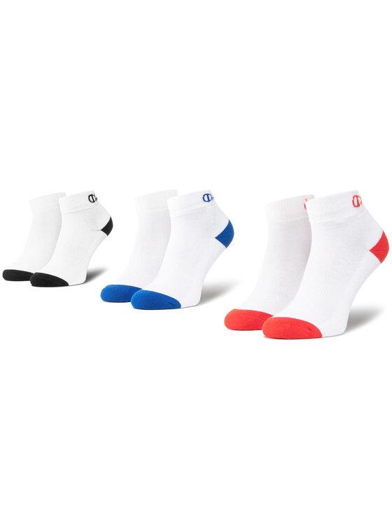 Champion Champion Sada 3 párů nízkých ponožek unisex CH00082D 8LZ Bílá