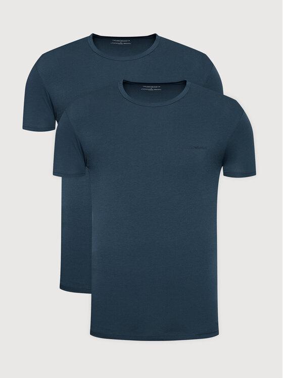 Emporio Armani Underwear 2 marškinėlių komplektas 111267 1A717 25234 Tamsiai mėlyna Regular Fit