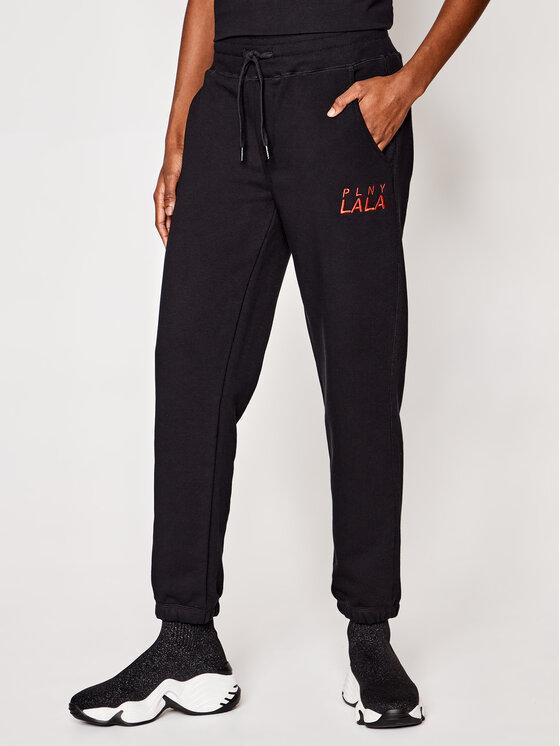 PLNY LALA PLNY LALA Spodnie dresowe Prima PL-SP-MS-00006 Czarny Mister Fit