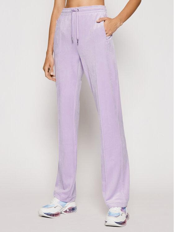 Juicy Couture Sportinės kelnės Velour Diamante JCAPW045 Violetinė Regular Fit