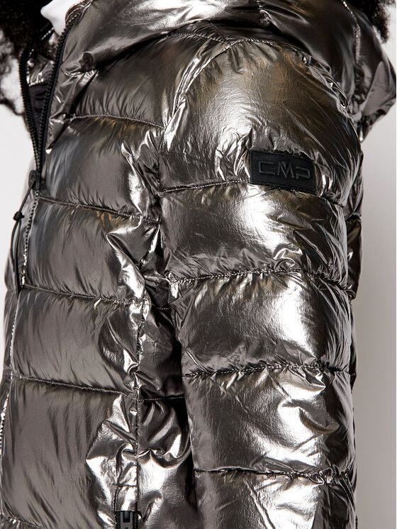 CMP CMP Kurtka puchowa 30K3506 Srebrny Regular Fit
