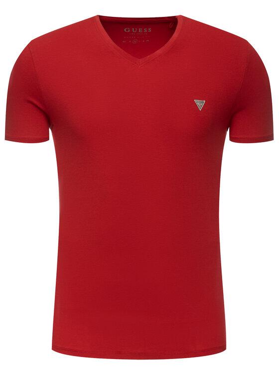 Guess Guess T-Shirt M93I52 J1300 Červená Slim Fit