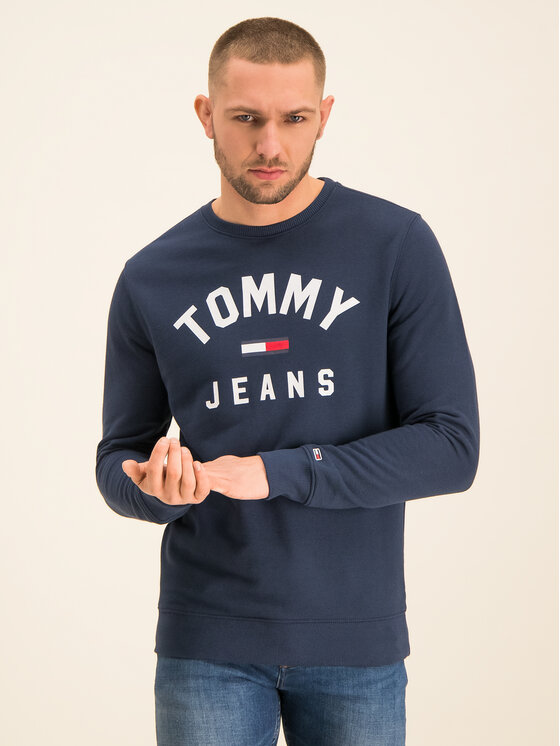Tommy Jeans Tommy Jeans Bluza Essential Logo DM0DM07024 Granatowy Regular Fit