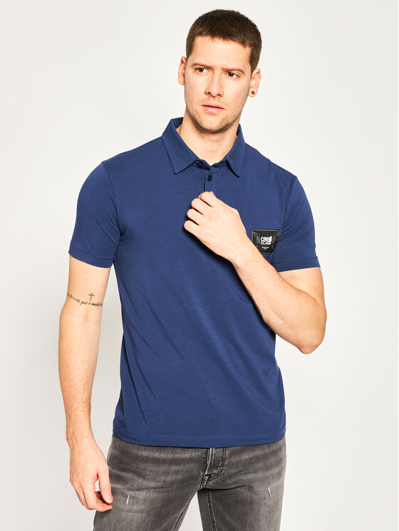 Cavalli Class Polo marškinėliai B3JVB754 Tamsiai mėlyna Regular Fit