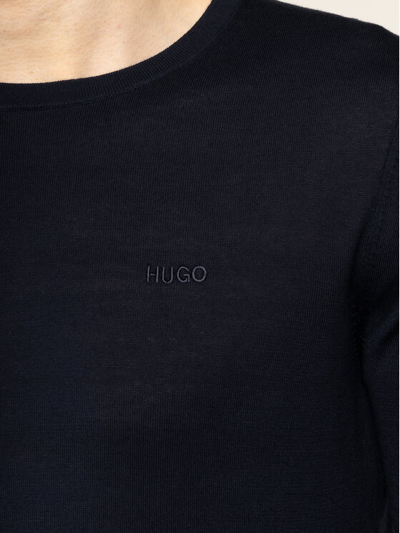 Hugo Hugo Sveter San Lorenzon 50427430 Tmavomodrá Slim Fit