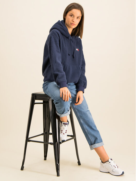 Tommy Jeans Tommy Jeans Μπλούζα Tjw Tommy Polar DW0DW07806 Σκούρο μπλε Relaxed Fit