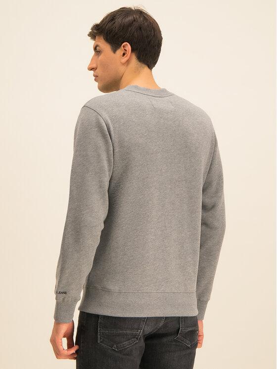 Calvin Klein Jeans Calvin Klein Jeans Bluza Embroidered Logo J30J314536 Szary Regular Fit