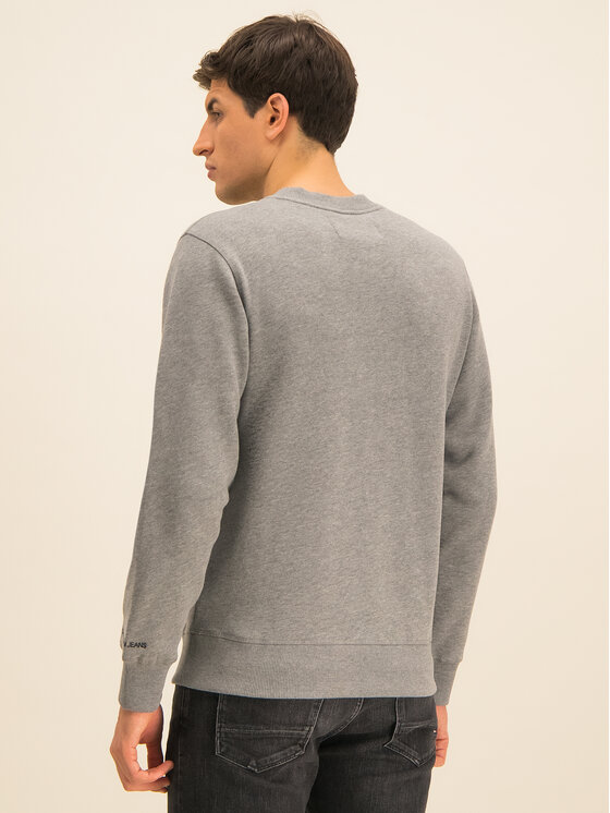 Calvin Klein Jeans Calvin Klein Jeans Μπλούζα Embroidered Logo J30J314536 Γκρι Regular Fit