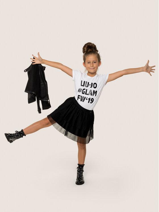 Liu Jo Kids Marškinėliai G69222 J0088 Balta Regular Fit