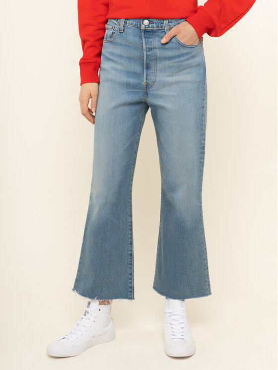 Levi's® Jeansy Bootcut Ribcage Crop Flare 77876-0001 Niebieski Regular Fit