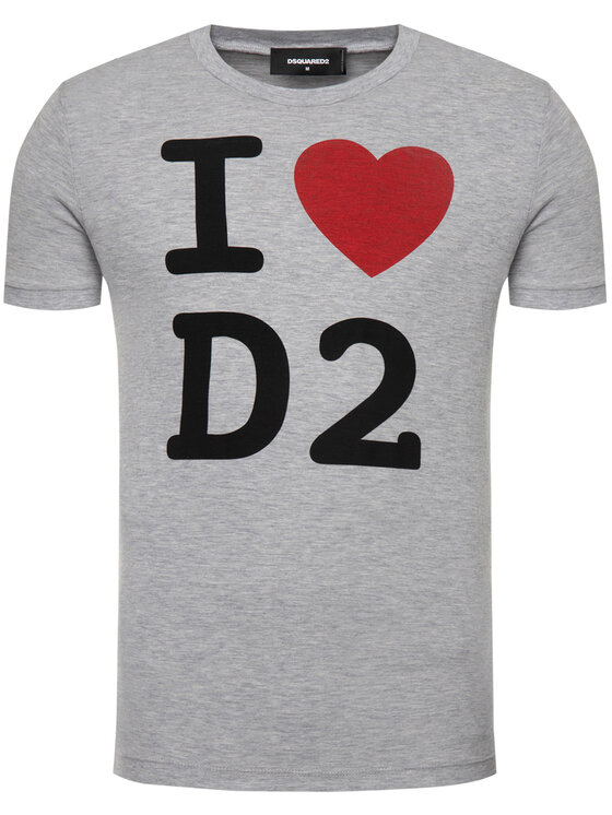 Dsquared2 Dsquared2 T-shirt I Heart D2 S74GD0670.S22146 Grigio Regular Fit