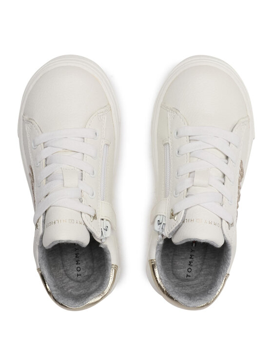 Tommy Hilfiger Tommy Hilfiger Sneakersy Low Cut Lace-Up Sneaker T3A4-31024-1190 M Biały