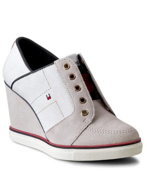 Tommy Hilfiger Tommy Hilfiger Sneakersy Sage 1C FW56818771 Beżowy