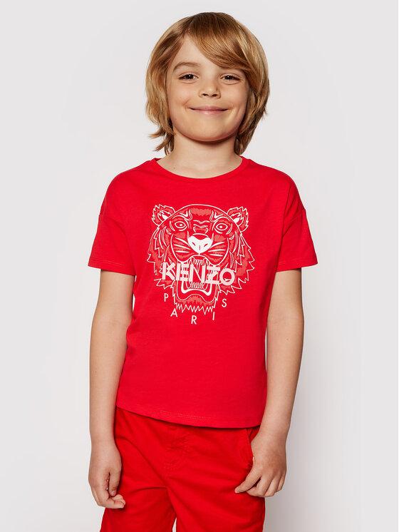 Kenzo Kids Marškinėliai K15086 S Raudona Regular Fit