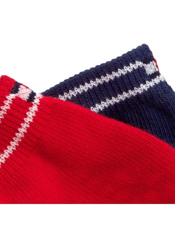 Tommy Hilfiger Tommy Hilfiger Súprava 2 párov krátkych pánskych ponožiek 362016001 Červená