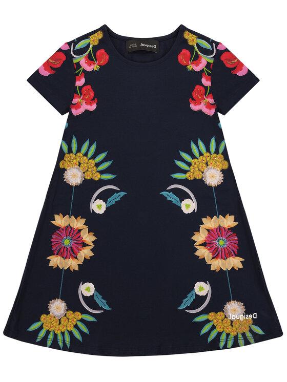 Desigual Desigual Kasdieninė suknelė Florecillas 20SGVK64 Tamsiai mėlyna Regular Fit