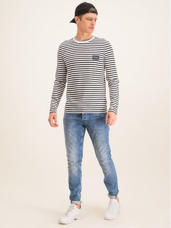 Calvin Klein Calvin Klein Longsleeve Liquid Touch Stripe K10K104938 Nero Regular Fit