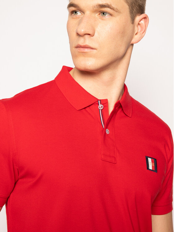 Tommy Hilfiger Tommy Hilfiger Polo Icon Mini Badge MW0MW13077 Rouge Regular Fit