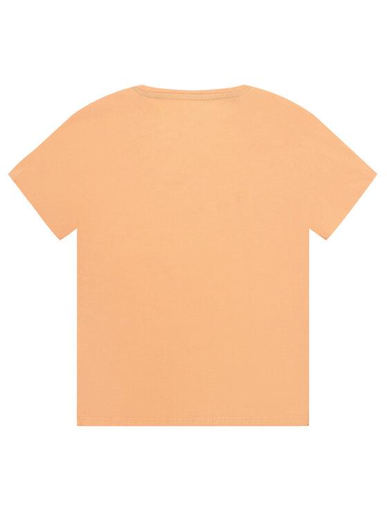 Pepe Jeans Pepe Jeans Marškinėliai Nuria PG502460 Oranžinė Regular Fit