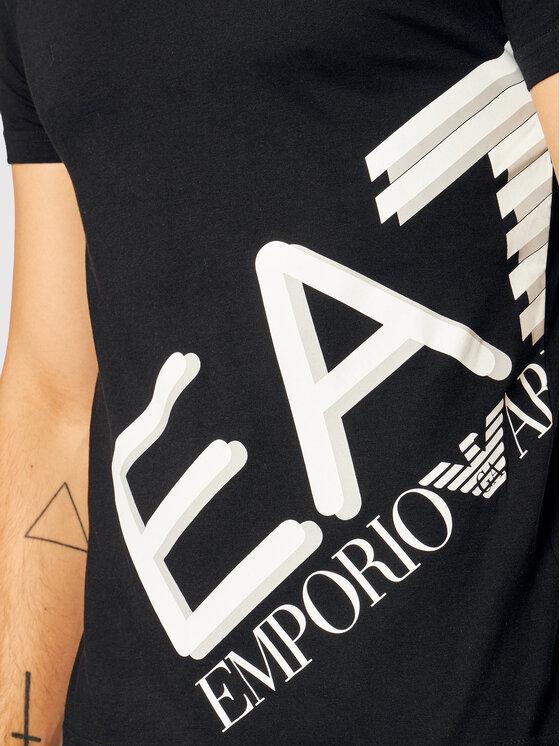 EA7 Emporio Armani EA7 Emporio Armani T-Shirt 6HPT07 PJA2Z 1200 Černá Slim Fit