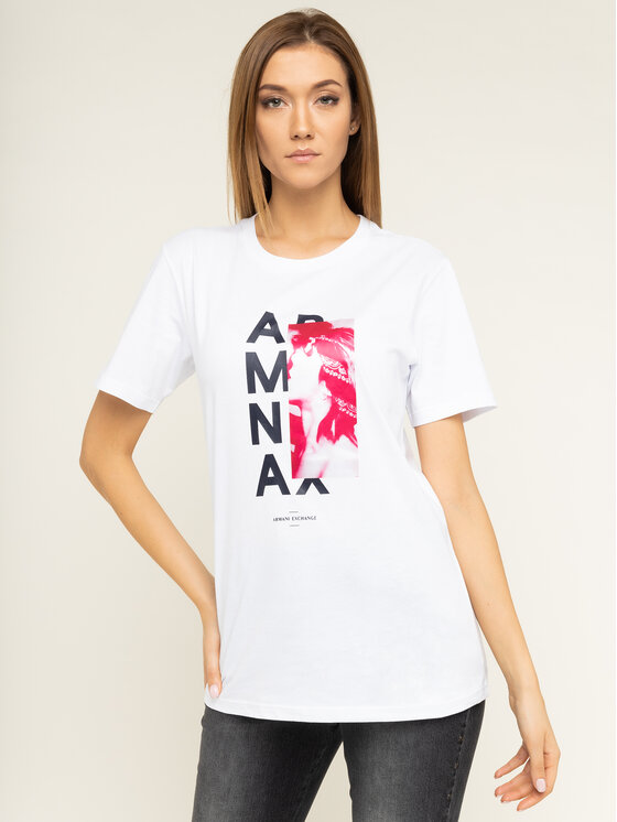 Armani Exchange Armani Exchange T-Shirt 6GYTAG YJ73Z 1000 Bílá Slim Fit