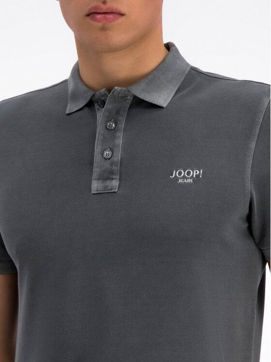 JOOP! Jeans Joop! Jeans Тениска с яка и копчета 30016355 Сив Slim Fit