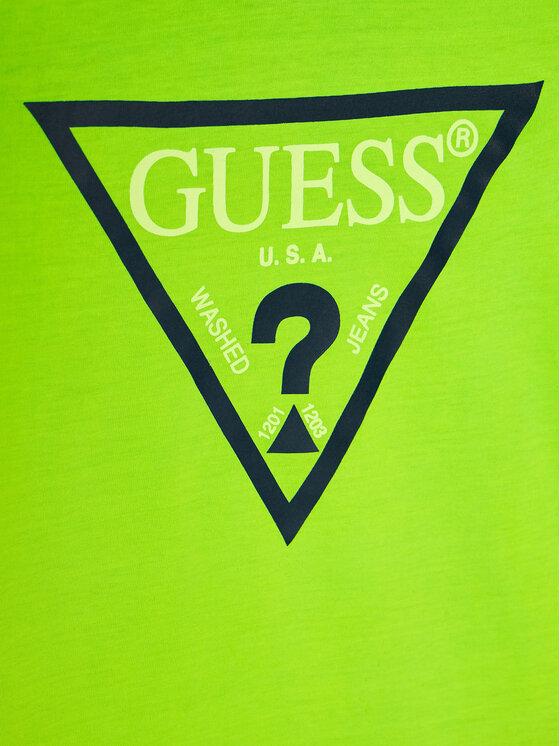 Guess Guess T-Shirt Logo Tee H02I00 K5M20 Πράσινο Regular Fit