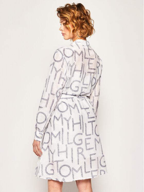 Tommy Hilfiger Tommy Hilfiger Sukienka koszulowa Leila WW0WW27806 Biały Regular Fit