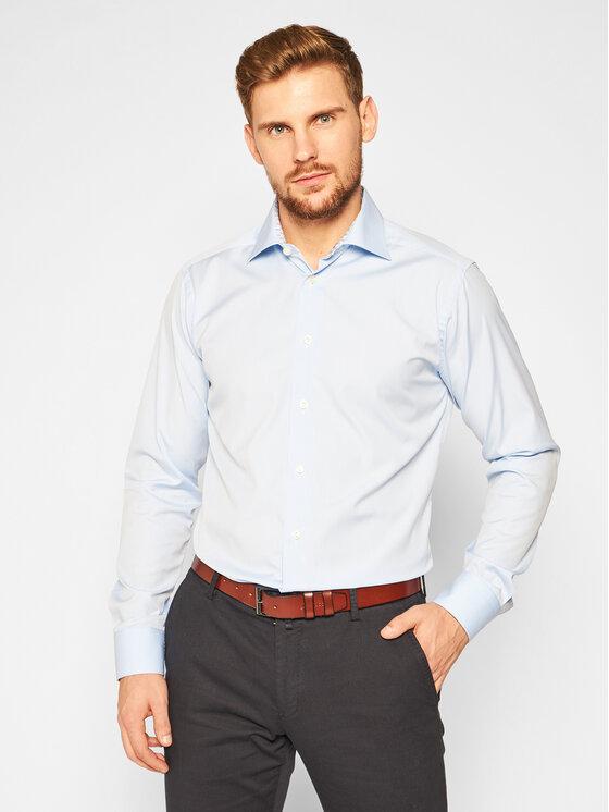 Eton Marškiniai 100000756 Mėlyna Slim Fit