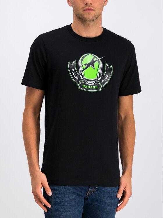 Diesel Diesel T-Shirt T-Just 00SXM1 0091A Czarny Regular Fit