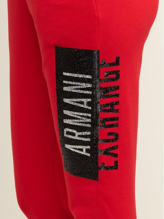 Armani Exchange Armani Exchange Teplákové nohavice 6GYP76 YJE5Z 1469 Červená Regular Fit
