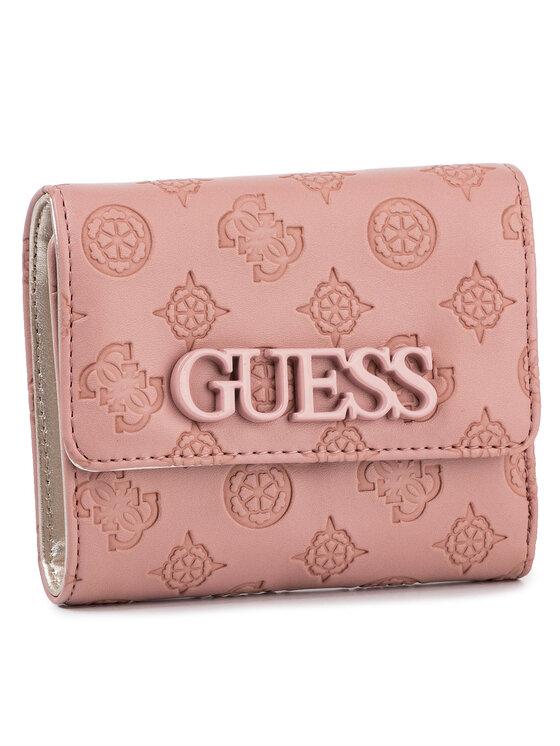 Guess Guess Duży Portfel Damski Janelle (Sp) Slg SWSP74 33430 Różowy