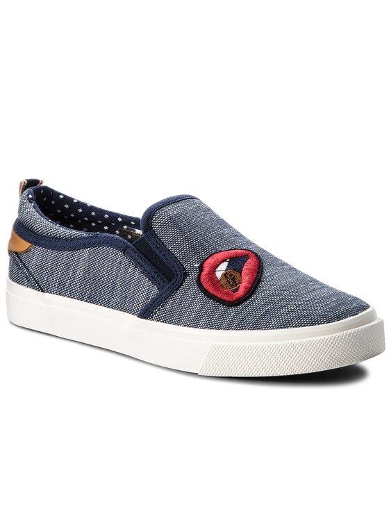 Wrangler Wrangler Sneakers aus Stoff Icon Slip On Patch WL181500 Dunkelblau