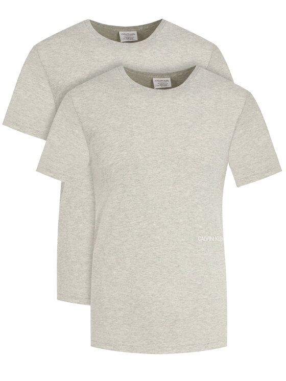 Calvin Klein Underwear 2 marškinėlių komplektas Statement 1981 000QS6198E Pilka Regular Fit