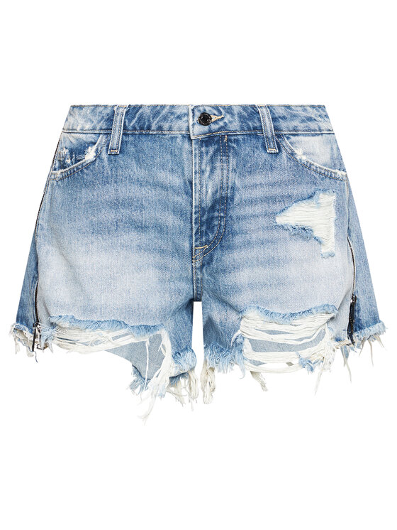 Guess Guess Szorty jeansowe W1GD70 D3P32 Niebieski Relaxed Fit