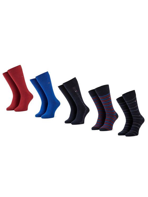 Tommy Hilfiger Tommy Hilfiger Комплект 5 чифта дълги чорапи унисекс 492006001 Тъмносин