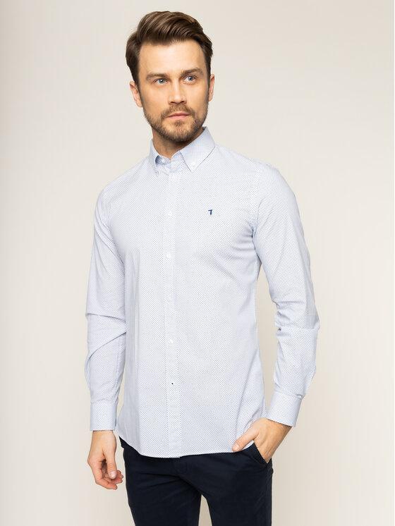 Trussardi Trussardi Camicia Print 52C00138 Bianco Regular Fit
