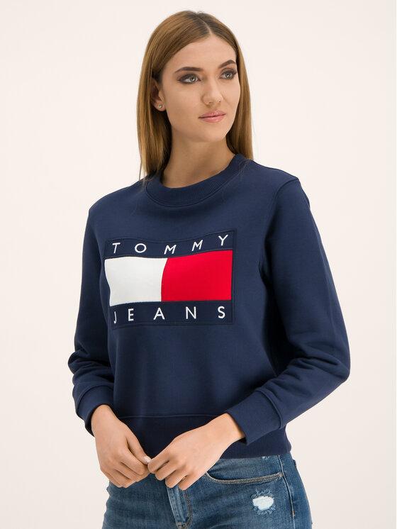 Tommy Jeans Tommy Jeans Μπλούζα Flag DW0DW07414 Σκούρο μπλε Regular Fit