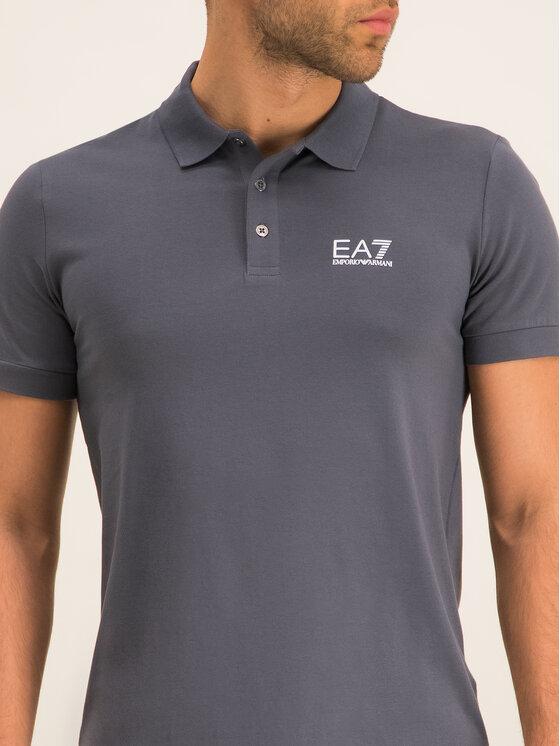 EA7 Emporio Armani EA7 Emporio Armani Тениска с яка и копчета 8NPF04 PJM5Z 1977 Сив Regular Fit