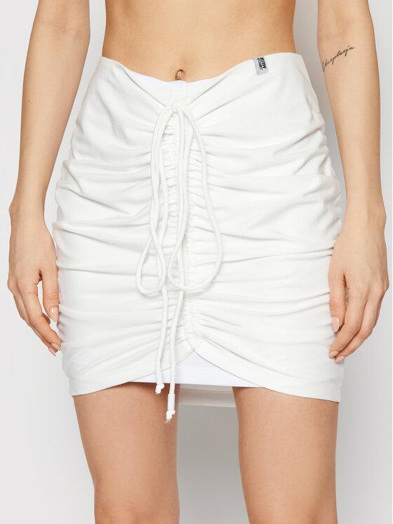 LaBellaMafia Mini sijonas 21456 Balta Slim Fit