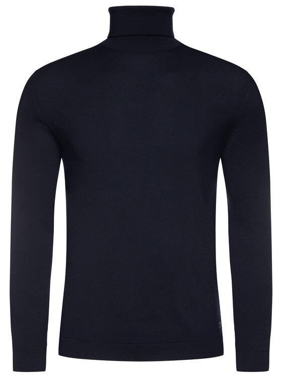 Pierre Cardin Pierre Cardin Bluză cu gât 55603/000/92535 Bleumarin Regular Fit