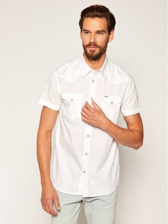 Levně Wrangler Košile Western W5J06S989 Bílá Regular Fit