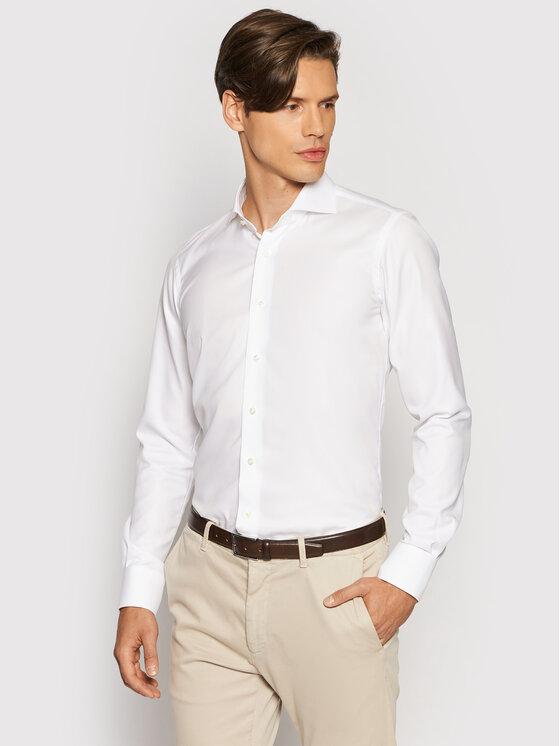 Emanuel Berg Marškiniai HV37 Balta Slim Fit