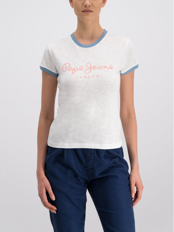 Pepe Jeans Pepe Jeans Тишърт Alex PL504159 Бял Regular Fit