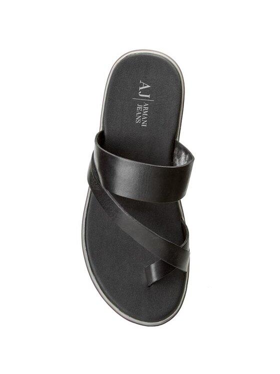 Armani Jeans Armani Jeans Flip flop A6547 96 12 Negru