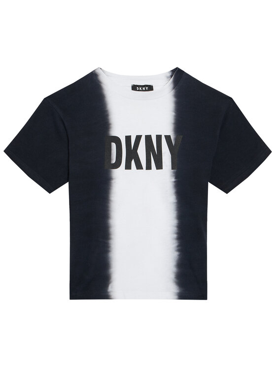 DKNY DKNY T-Shirt D35R31 D Czarny Regular Fit
