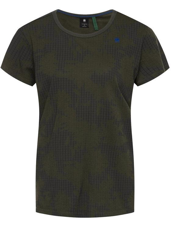 G-Star Raw G-Star Raw T-Shirt Gyre Wmn D16268-C224-B342 Grün Regular Fit