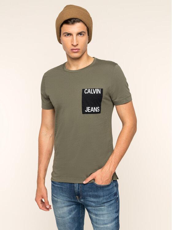Calvin Klein Jeans Calvin Klein Jeans Тишърт Pocket J30J313427 Зелен Slim Fit